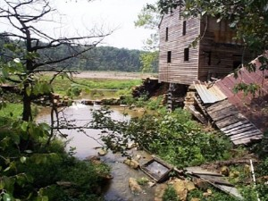 Damage to Yates Mill from Hurricane Fran
