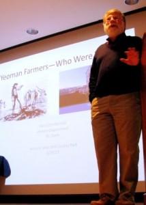 Prof. Zonderman talks about the yeoman farmer